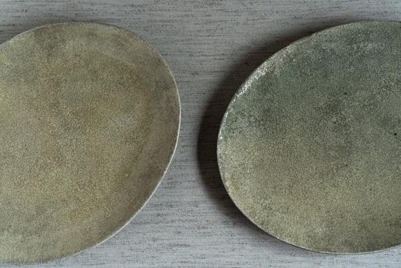 大橋睦さんの楕円皿