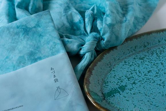 桐染 KIRISENさんのあづま袋と宮本めぐみさんのオーバル皿