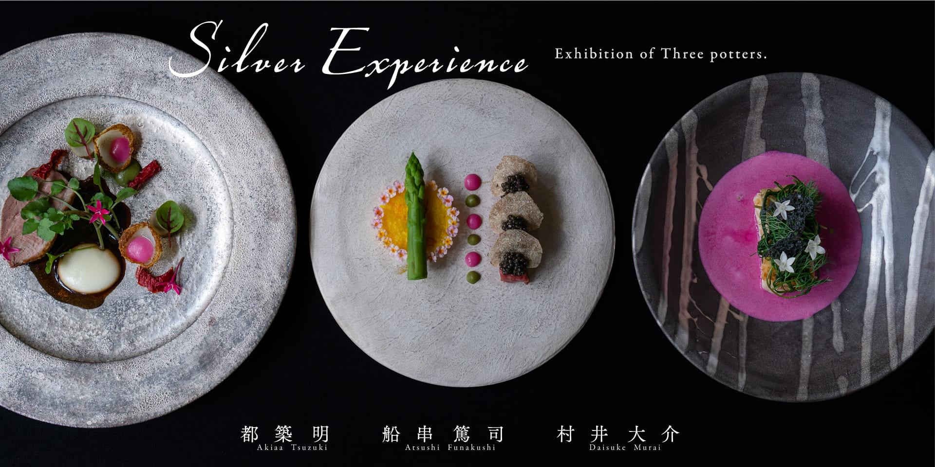 都築明・舟串篤司・村井大介 3人展『Silver Experience』